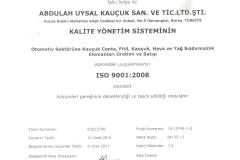 İSO TESCİL SERTİFİKASI